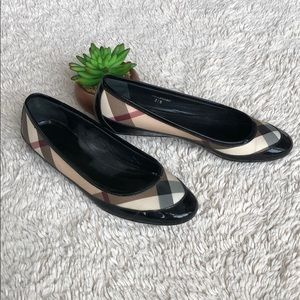 Vintage Burberry Patent Leather Flats